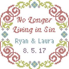 Subversive wedding cross stitch pattern