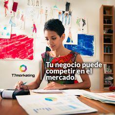 Con la era digital, las pequeñas empresas con una buena estrategia pueden competir en el mercado. Entra a www.t7marketing.com y contáctanos.