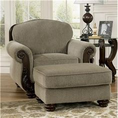 Signature Design by Ashley Martinsburg - Meadow Chair & Ottoman - 5730020+14
