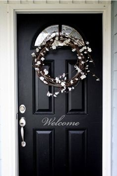 Welcome Front Door Entry Sign Decal Sticker in by VisionsInVinyl, $8.00