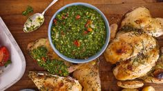 Garlicky Spatchcock Chicken with Parsley Chimichurri - See more at: https://www.rachaelrayshow.com/#sthash.vXxMfGjZ.dpuf