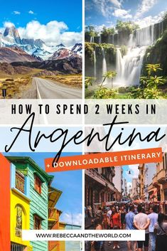 If you've only got 2 weeks in Argentina, check out this awesome Argentina itinerary (from someone who lived there). This 2-week itinerary will see you exploring cities, trekking on glaciers, walking under waterfalls and tasting wine in South America's most diverse country.   Things to do in Argentina   Visit Argentina   South America Travel   Places to Visit in Argentina   #Argentina #southamericatravel #buenosaires #patagonia #argentinatravel #argentinaitinerary #whattodoinargentina Argentina South America, Visit Argentina, Argentina Travel, South America Travel, Cool Places To Visit, Places To Travel, Travel Around The World, Around The Worlds, Amazing Destinations