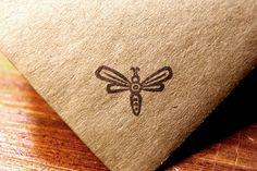 Small Lightning Bug Fly Rubber Stamp. $10.00, via Etsy.