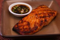 Recipe for Grilled Salmon with Asian Dipping Sauce  [from Kalyn's Kitchen]