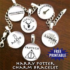 DIY Harry Potter Charm Bracelet! I'm making it at the moment! So cheap, easy and beautiful!