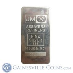 10 oz Johnson Matthey Silver Bar http://www.gainesvillecoins.com/category/281/2014-silver-bullion-coins.aspx