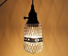 Industrial style lighting.