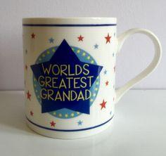 Worlds greatest grandad mug £5.99 - Mugs&Cups/Sets Designer Homeware and Gifts UK
