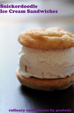 Snickerdoodle White Chocolate Cardamom Ice Cream Sandwiches