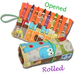 Personalized crayon rolls are here! Perfect stocking stuffer or fun gift for your kids to give to their friends!