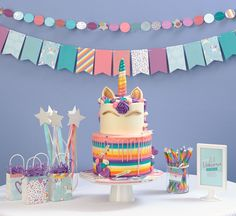 Unicorn birthday party- Little Dreamer Unicorn party decor