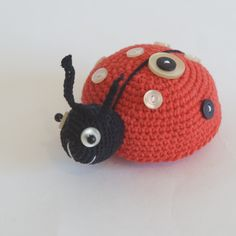 Amigurumi Ladybug Construction – Gift For Men Crochet Dolls, Crochet Baby, Knit Crochet, Patron Crochet, Cut The Ropes, Red Rope, Black Thread, How To Start Knitting, Toys For Boys