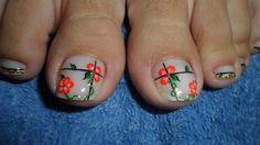 Toe Nail Art, Cute Acrylic Nails, Cute Pedicures, Toe Nail Designs, Hot Nails, Christmas Nail Art, Flower Nails, Pretty Pedicures, Nail Art Designs