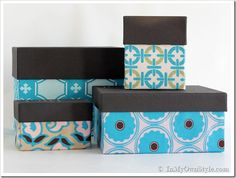 Decorative Fabric Storage Boxes Covering Shoe Boxes In Fabric Tutorial Diy Boxes  Pinterest