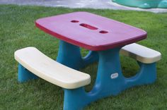 Repainting a Little Tikes Picnic Table.