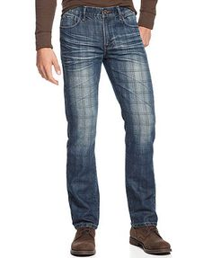 Ring of Fire Jeans, Slim Straight-Leg Plaid Print ----> from production
