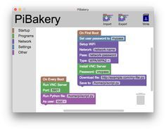 [David Ferguson] has put together a nice little tool called Pi Bakery. Half MIT Scratch, half configuration utility, it puts a nice visual face on all the various start-up scripts, and kludges that…