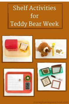 Shelf Activities for Teddy Bear Week