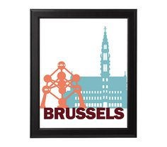 Wall Art Print Brussels Instant Download Printable by HemBee