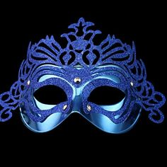 Venice Queen Glitter Blue Women's Carnival Masquerade Party Mask #Party #Mask #Lovejoynet
