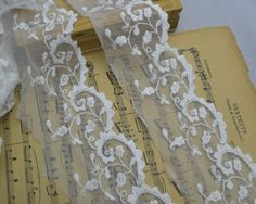 """White Lace Trim Floral Embroidery Lace 2.75"""" Wide"""