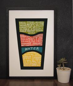 Detailed Beer Diagram  Know what you drink Beer Poster by drywell, $25.00