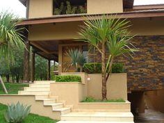 Escadaria com Pândanus.