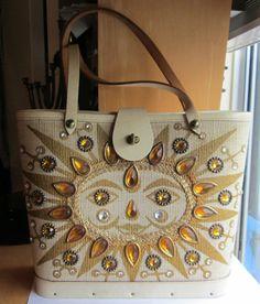 Vintage Enid Collins of Texas Fiesta Del Sol Sun Handbag Bag Rhinestones | eBay
