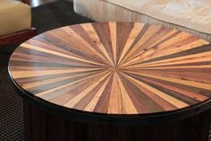 Sunburst Reclaimed Wood Coffee Table