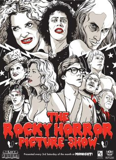 The Rocky Horror Picture Show Illustration by: Joshua Budich Midnight Movie @ Clinton Street theatre in PDX back in the day Rocky Horror Show, The Rocky Horror Picture Show, Famous Movies, Cult Movies, Teatro Musical, The Frankenstein, Alternative Movie Posters, Norman Rockwell, Film Serie