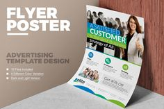 Corporate Advertising Flyer / Poster by ContestDesign Corporate Flyer, Corporate Business, Corporate Identity, Business Design, Business Flyers, Business Flyer Templates, Brochure Template, Brochure Ideas, Poster Download