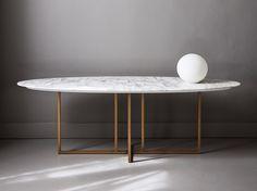 Mesa consola de mármol COLE - Meridiani