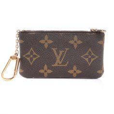 LOUIS VUITTON Monogram Pochette Key Cles $195