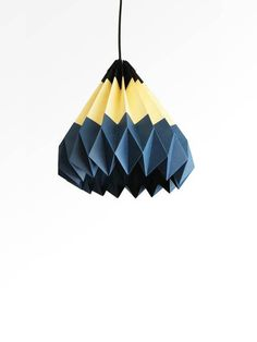 Pencil/Origami Paper Lamp Shade-Blue by TwReborn on Etsy