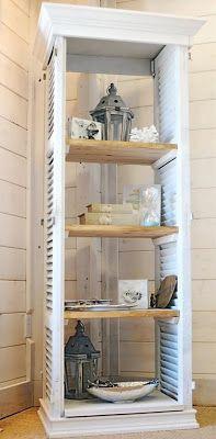 Custom Shutter Bookcase by Saltaire Restoration