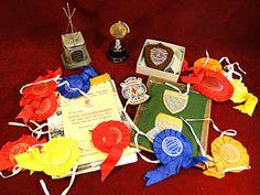 65) Collection of sports related memorabilia – trophies, badges, publications Est. £15-£20
