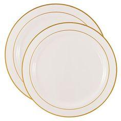 7  White Antique Plastic Dessert Plates | Weddings Wedding and Rehearsal dinners  sc 1 st  Pinterest & 7