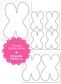Printable Bubble Letter E Template From PrintabletreatsCom