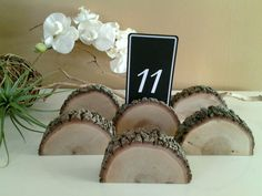 TREASURY ITEM  6 Oak tree place card holders   by JTLCREATIONS, $24.00