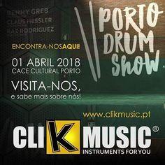 Está a chegar o grande evento PORTO DRUM SHOW. A marca ClikMusic vai lá estar representada e espera pela tua visita !! Não te esqueças de adquirir o teu bilhete em: http://ift.tt/2Hb22aD #portodrumshow