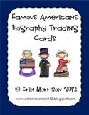 Famous American Biography Trading Cards