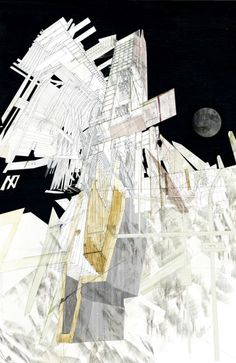 Landfall, the other shore Justine Bell 2010 Architecture Graphics, Architecture Drawings, Architecture Design, Drawing Sketches, Art Drawings, Bartlett School Of Architecture, Conceptual Drawing, Simple Line Drawings, 3d Max