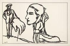René Magritte - Self Portrait, 1928
