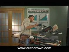 http://cutncrown.com Easy 3 step process to cut crown molding perfectly everytime without using books or charts. The Cut N Crown jig lets your saw do all the...