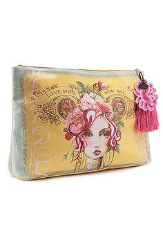Rose Large Acc Pouch W Tassel - THE BIG BAMBOO