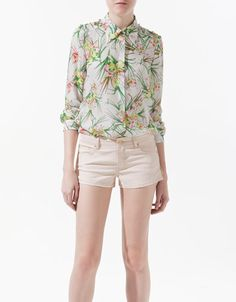 STUDDED SILK SHIRT - Shirts - Woman - ZARA United States