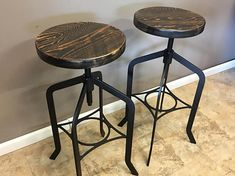 We use reclaimed barn wood that is recycled from barns around the country. The combination of both wood and metal capture both rustic and industrial styles .The beautiful repurposed wood gives a timeless look to any home, restaurant, or commercial space. This urban style stool is handmade with
