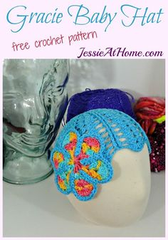 Gracie Baby Hat free #crochet pattern by @jessie_athome