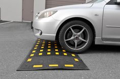 The 2-inch rubber speed hump reduces speed without impeding the flow of traffic.  Rubber speed humps have an advantage over traditional asphalt because they are removable, easy to install, and not susceptible to cracking. To learn more, visit:  http://www.reliance-foundry.com/traffic-safety-supplies/speed-humps