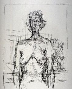 Alberto Giacometti, Nude with Flowers 1960 Alberto Giacometti, Figure Painting, Painting & Drawing, Stippling Art, Figure Drawing Reference, Post Impressionism, Art Moderne, Art Graphique, Life Drawing